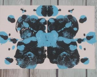 Original Inkblot Art, Psychology Art, Therapy Art, Therapy Office Art, Conversation Art