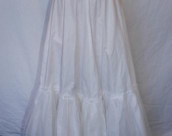 Handmade crinoline petticoat/underskirt with tulle at bottom