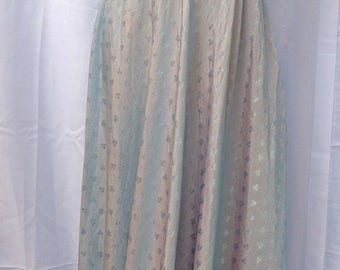 Hand made shot rayon 1940s maxi dress
