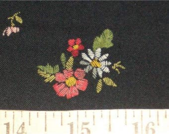 Embroidery Bouquet Gail Kessler Andover Quilt Fabric By the Yard