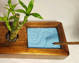 Items similar to desk organizer desktop Zen Garden natural