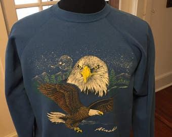 Vintage 1990's Alaska Eagle Sweatshirt