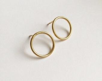 Golden Hoop Earrings/Circle earrings/Stud earrings