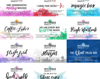 142 ml (4.8 oz) fandom inspired scented soy candle (32 variations)