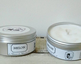 Melon retained fragrance candle