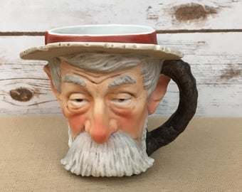 Norman Rockwell Vintage 1979 NRM-5 Dave Grossman Hobo Toby Mug Saturday Evening Post Oct. 18, 1924