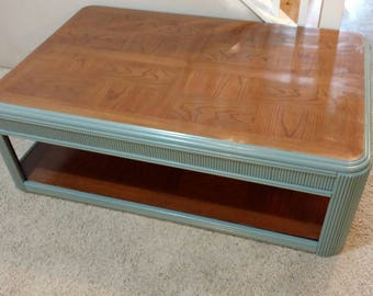 Great Moody Blue And Ebony Coffee Table