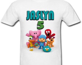 Personalized Pocoyo Birthday shirt for Family