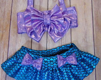 Little Mermaid Swimsuit - Mermaid Swimsuit - Mermaid Bikini - Child's Mermaid Swimsuit - Baby Mermaid Swimsuit - Baby Bikini - Made to Order