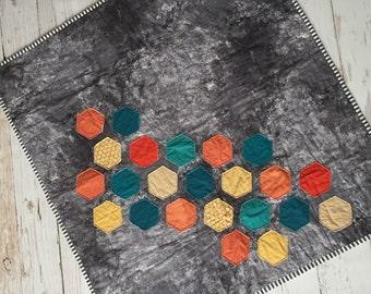 Hexagon baby quilt   Etsy : hexagon baby quilt - Adamdwight.com