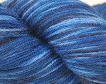 "Wool/Nylon Sock Yarn Hand-painted ""Teddy"""