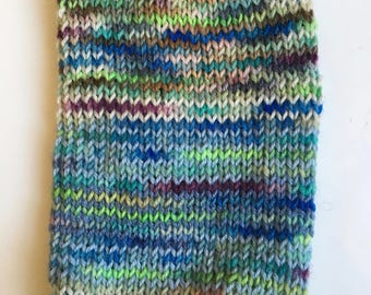 Cell phone sock, knitted, mobile protection sleeve up to max 12 x 9 cm