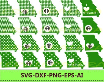 60 % OFF, Missouri State SVG, Missouri Monogram Frames, Missouri Cricut file, Silhouette Vinyl Cutting file, Missouri dxf,svg,dxf,ai,eps,png