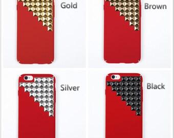 studded iPhone 7 case iPhone 7 plus case iPhone 6 plus case  iPhone 6/6s case iPhone SE case red case