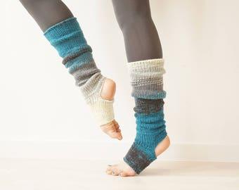 Knee High Yoga Socks, Piyo Socks, Dance Socks, Yoga Spats, Toeless Socks, Leg Warmers, Pilates Socks, Pedicure Socks, Yoga Gift