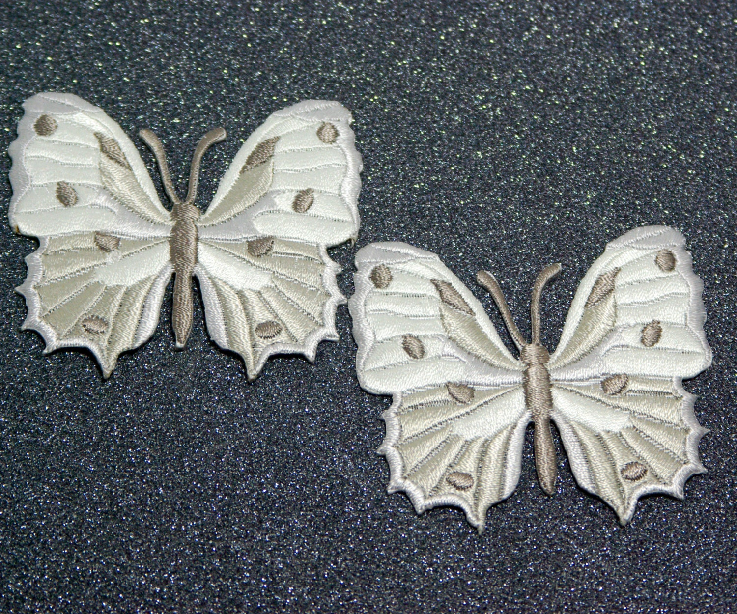Embroidery butterflies applique white butterfly vintage for Applique vintage