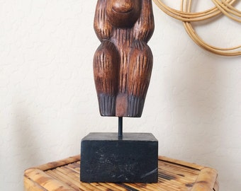 Wood carved monkey