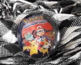 Pokemon pin badge, kids badge, geek pin, cartoon pin, childrens pin, pokemon gift, geek gift, nerd accessory, pokemon accessory, nerd pin