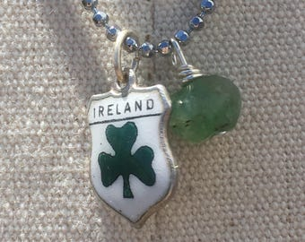 Ireland Charm Emerald Necklace