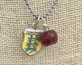 Denmark Charm Ruby Necklace