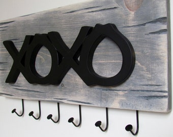XOXO Hanger on Reclaimed Wood - Valentine's Day Gift
