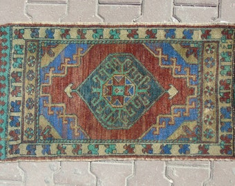 Small Turkish Rug, Small Oushak Rug, Turkish Door Mat Rug, Small Rug, Tribal Small Rug, Turkish Small Rug, Small Oushak Rug, 1'7 x 3'1