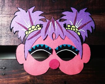 Sesame Street abby cadabby Kids Felt Mask pink monster dress up costume birthday party favor