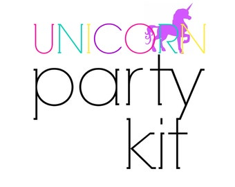 Unicorn Party Kit! Birthday Party in a Box! unicorn party supplies