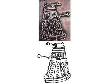 dr who inspired dalek printing stamp