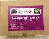 Sculpted felt flower kit...