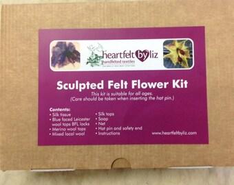 Sculpted felt flower kit