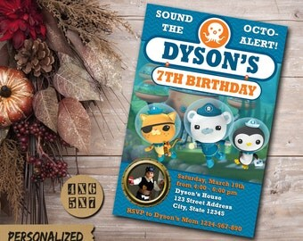 Octonauts Invitation / Octonauts Birthday Invitation / Octonauts Birthday Invite / Octonauts Birthday / Octonauts Party / Octonauts invite