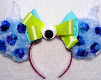 Mickey Mouse Headband Ears Minnie Mouse headband Ears Disney's Monster's INC Sulley Inspired EARS