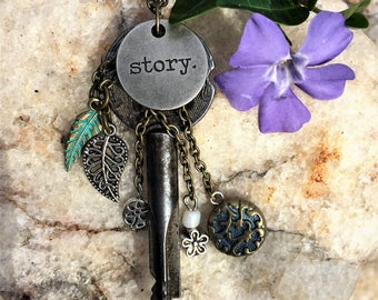 Key Necklace//Unique Key Necklace//Christian Necklace