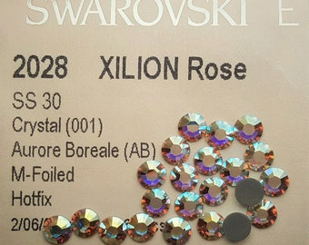 Swarovski Crystal AB Hotfix Rhinestones SS30, 6.5mm, Swarovski Rhinestones(72pcs/pk)- Hot fix Crystals AB Swarovski Rhinestones