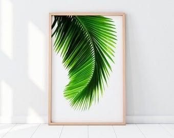 Tropical Print, Tropical Leaf, Palm Leaf, Palm Print, Palm Printable, Palm Wall Art, Palm Decor, Palm Artwork, Palm Tree, Palm Leaf Print