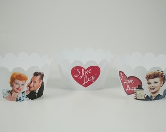 I Love Lucy cupcake wrappers, I Love Lucy  , Birthday cupcake wrappers, I Love Lucy  theme party, Birthday cupcake wrapper