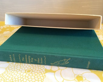 1970 Book ~ Mark Twain ~ The Notorius Jumping Frog & Other Stories ~ The Heritage Press