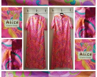 Vintage - 1960's - Alice Polynesian Fashions Dress