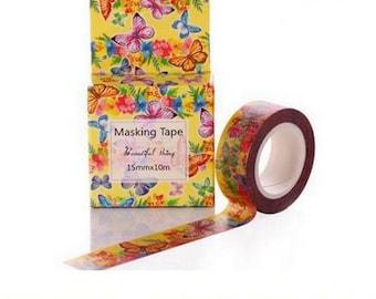 Washi Tape, Masking Tape, Ribbon Butterfly scrapbooking adhesive