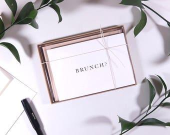 Brunch? Box Set of 6. Greeting Card Box Set.