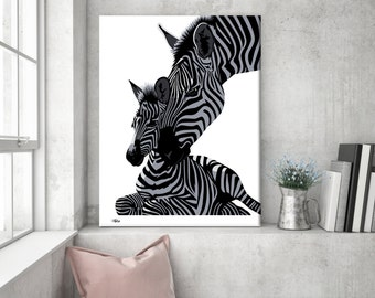 Safari nursery, zebra canvas, nursery animal print, zebra wall art, zebra gift, zebra art, zebra decor, nursery wall art, wall art canvas
