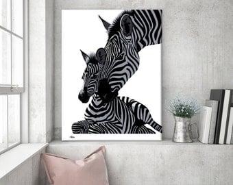 Zebra print, zebra gift, safari nursery, nursery animal print, zebra wall art, zebra art, zebra decor, nursery wall art, wall art canvas