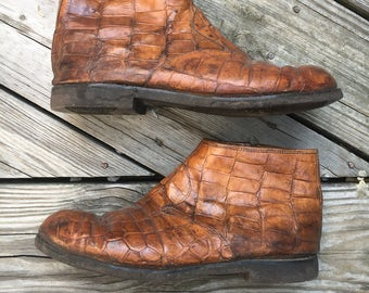 Men's Tanned Leather Ankle Boots