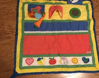 Vintage Playskool Fold 'n Go Baby Activity Blanket