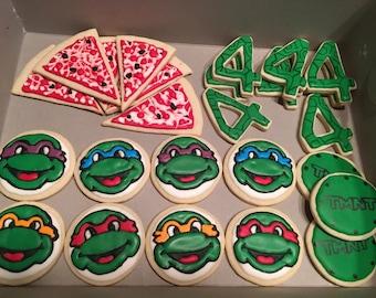 Teenage Mutant Ninja Turtle Cookies Dozen