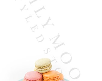 Styled Macarons Stock Image | Spring Styled Stock Image | Styled Stock Photography | Office Styled Stock Photography
