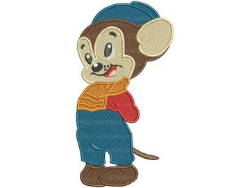 Sniffles the Mouse Disney the Silly Symphonies Embroidery Design 3 sizes Instant DOWNLOAD