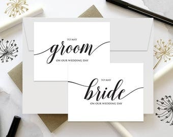 To My Bride Card, To my Bride, Wedding Day Card, Wedding Day Card, To My Bride and Groom, Husband and Wife Cards, Instant Download