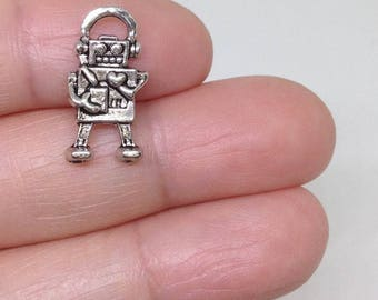 10 Cute Little Robot charm, Toy Charm